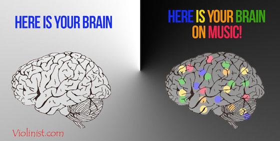 Chơi nhạc cụ tạo ra pháo hoa trong bộ não