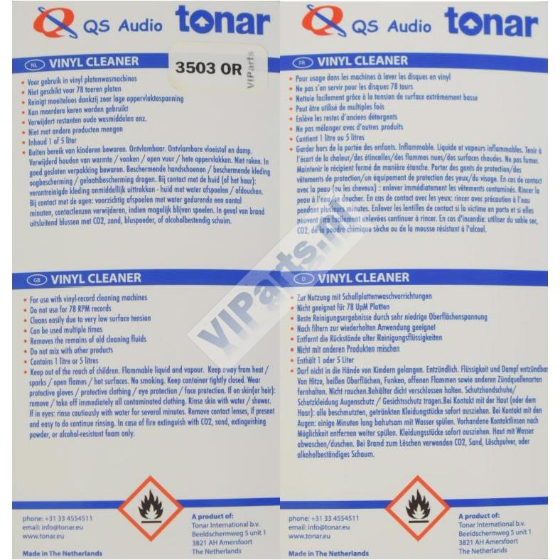 QS Audio 1 Liter - TONAR 3503 OR NL-GB FR-D