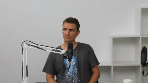 Dojcsák Dániel (IVSZ) a DTM augusztus elsejei műsorában. Fotó: Nemes Cilla