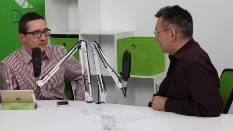 Pintér Róbert információs társadalom-kutató és Szilágyi Árpád műsorvezető