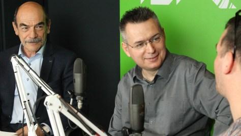 Alföldi István, az NJSZT ügyvezető igazgatója, Szilágyi Árpád és Justin Viktor. Fotó: Nemes Ilona
