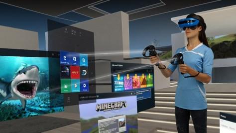Ez is headset – a kevert valóságot (Mixed Reality) lehet vele követni. Forrás: Acer.com