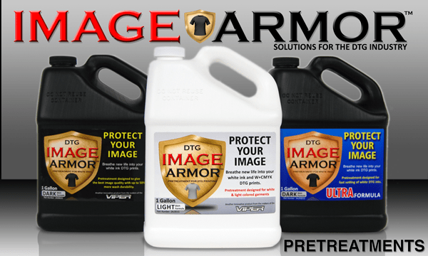 Image Armor Pretreatments for DTG Printers