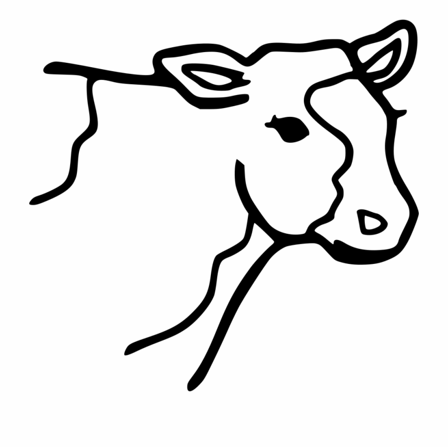 Png File Svg Cow Coloring Page Transparent Png Download 1160045 Vippng