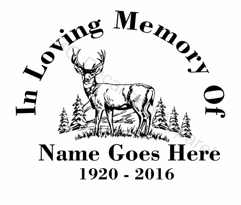 Download In Loving Memory Of Deer - Whitetail Deer Clipart Black ...
