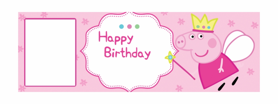 Peppa Pig Cartoon Personalised Birthday Banner With Peppa Pig Dxf File Transparent Png Download 3841504 Vippng