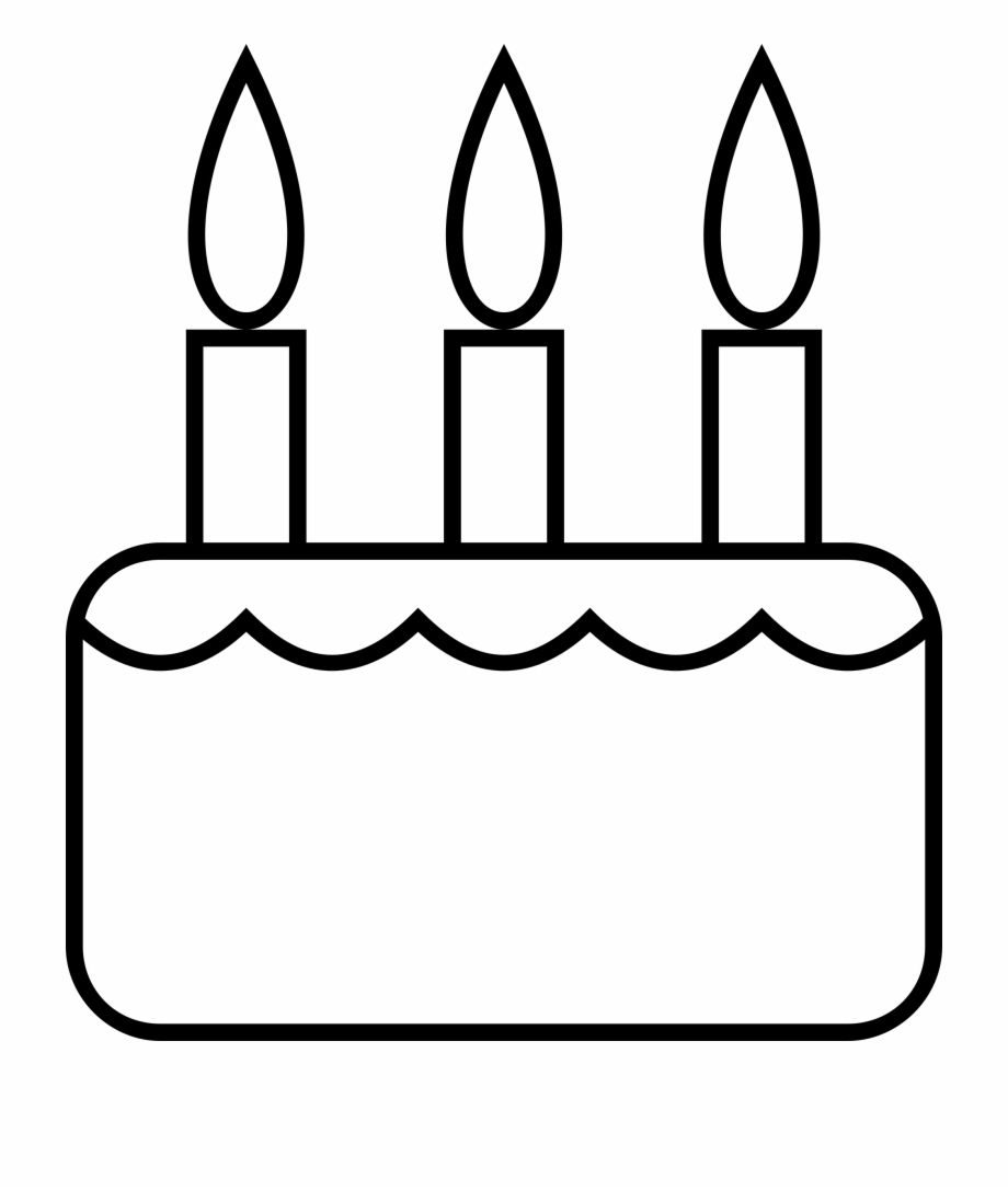 Birthday Cake Black And White Clipart Birthday Cake Black And White Clip Art Transparent Png Download 4450710 Vippng