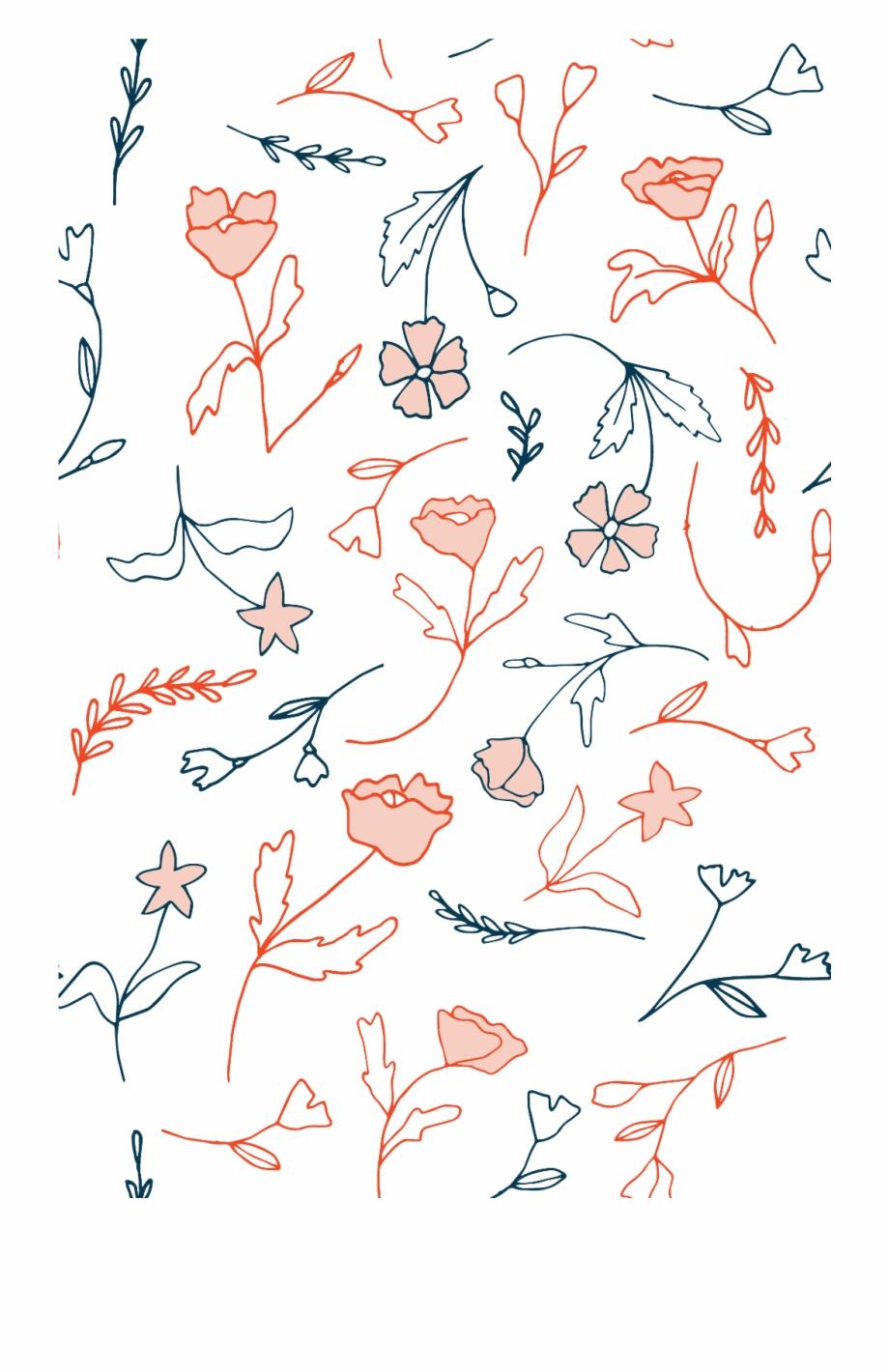 Background Wallpaper Floral Flower Vector Iphone Transparent Png Download 4630488 Vippng