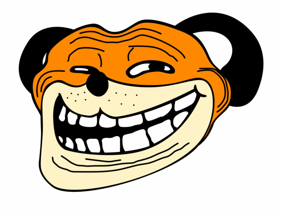 Angry Troll Face Png Clipart Freeuse Stock Meme Dog Face Png