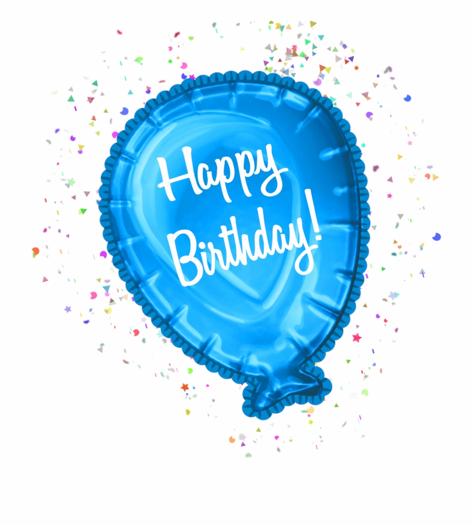 Happy Birthday Balloon Clipart Cu Birthday Balloons On Transparent Background Transparent Png Download 859686 Vippng