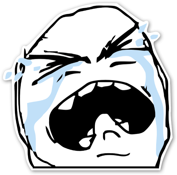 Memes Crying Sticker Crying Troll Face Png Transparent Png