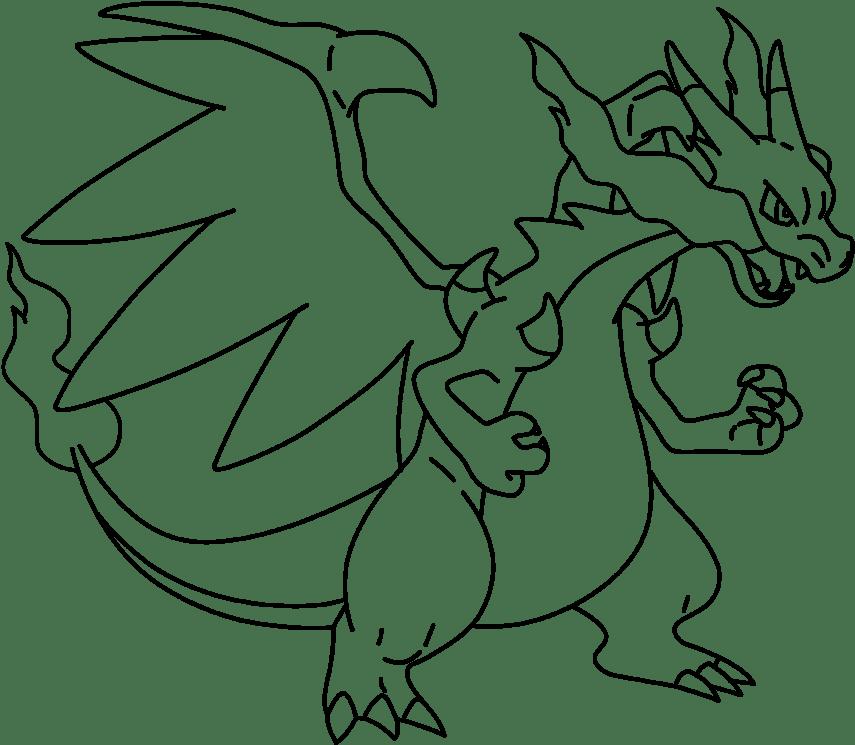 Mega Charizard X Png Riddler Drawing Easy Pokemon Charizard X Drawing 2072403 Vippng