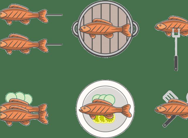 Cooked Fish Png Ham Clipart Cooked Fish Ikan Bakar Vektor Png 300349 Vippng