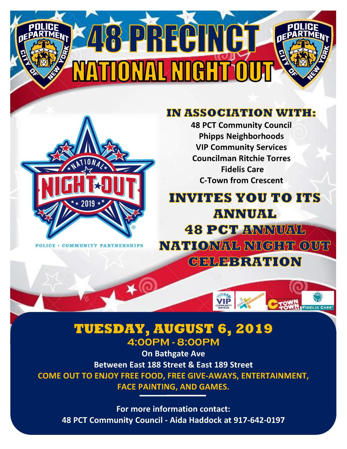 NATIONAL NIGHT OUT 2019 Flyer
