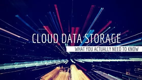 Artistically rendered title page for the blog post Cloud Storage Data