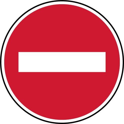 Panneau D Interdiction Sens Interdit Virages