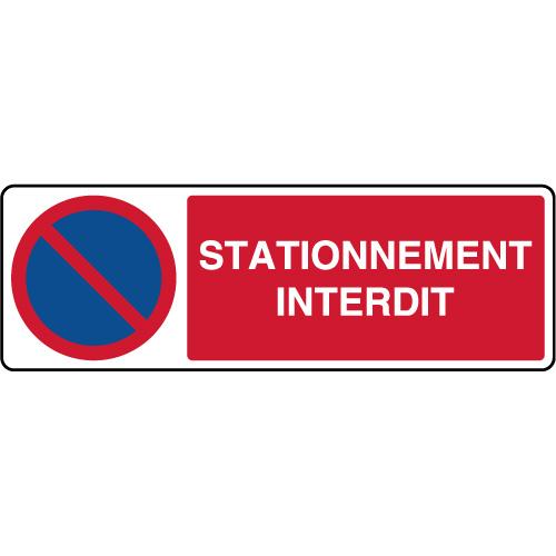 Panneau De Parking Horizontal Stationnement Interdit Virages