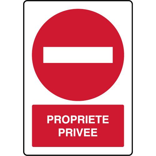 Panneau Vertical D Interdiction Parking Propriete Privee Virages