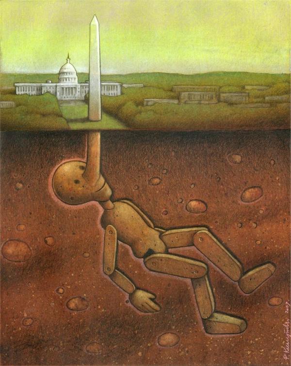 30幅超現實諷刺插畫-波蘭畫家Pawel Kuczynski用滑稽震撼你的心
