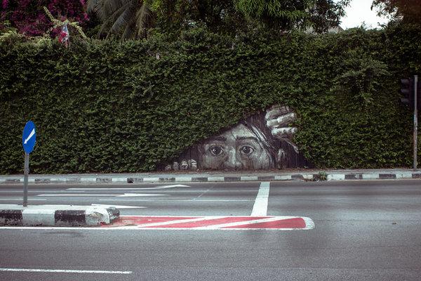 29個和大自然完美結合的街頭藝術作品,令你無法不讚嘆的巧妙創意!