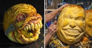 17張猙獰的南瓜鬼臉,好萊塢特技級數的萬聖節南瓜雕刻!(by Jon Neill)