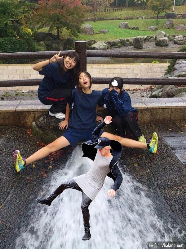 日本女高中生的極限自拍照,慘被網友爆笑惡搞!33幅笑到你飆淚的瘋狂修圖!