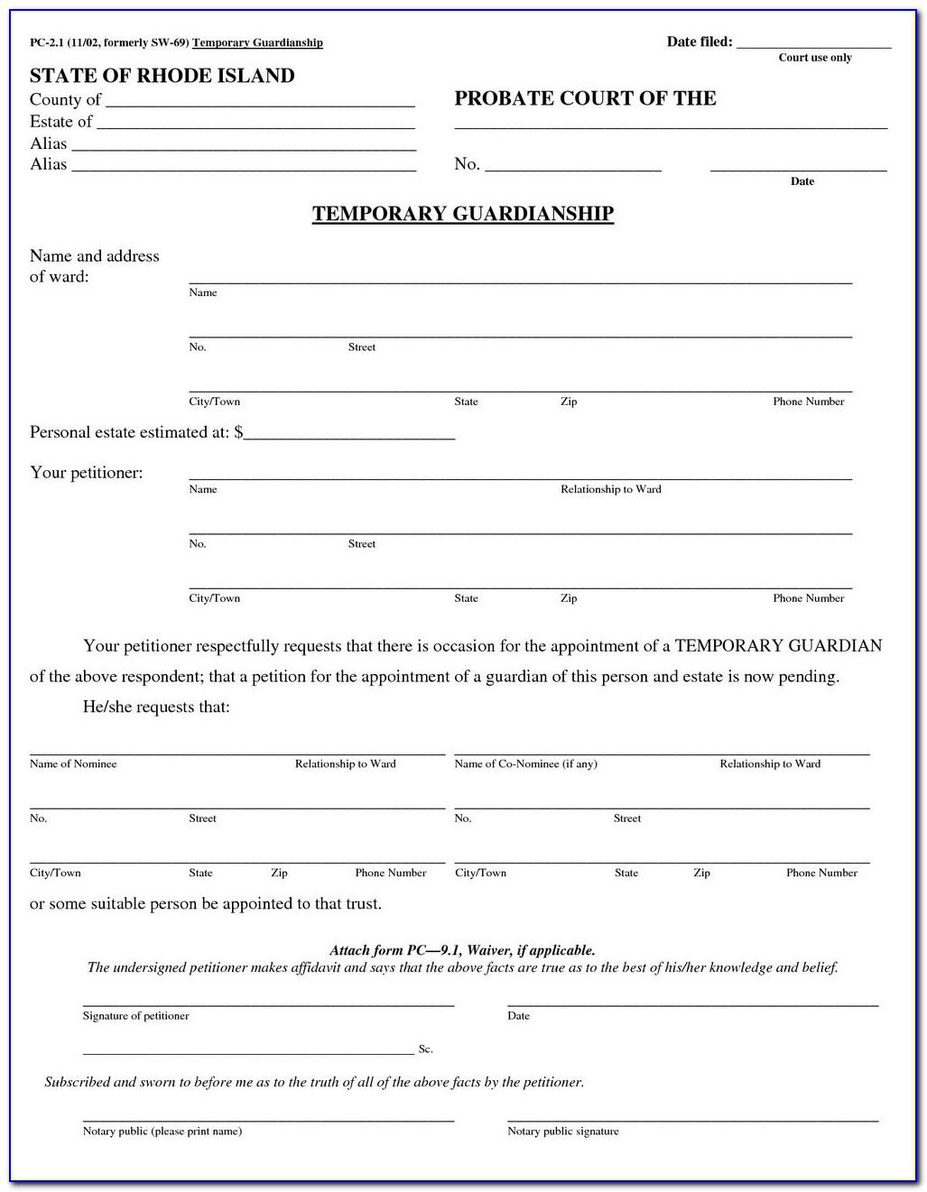Free Printable Court Documents Tutore