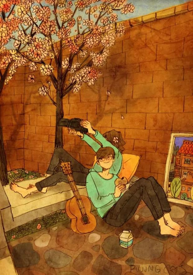 amor-detalles-Puuung-artista-ilustraciones-selfie