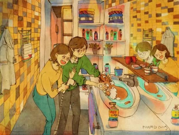 amor-detalles-Puuung-ilustraciones-bañar-gatos