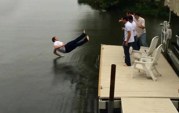 break dance en el agua