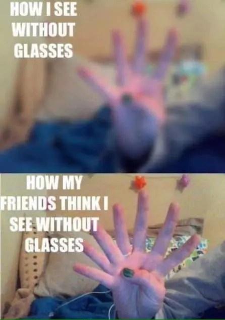 vista sin anteojos