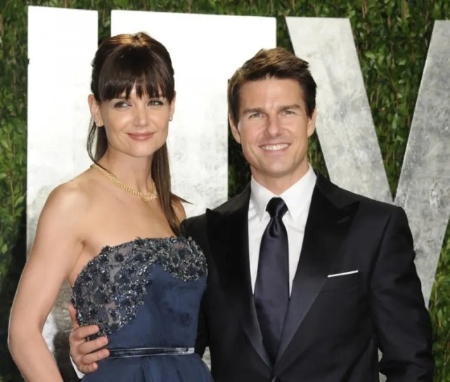 FILE - In this Feb. 26, 2012 file photo, actors Tom Cruise and Katie Holmes arrive at the Vanity Fair Oscar party, in West Hollywood, Calif. Cruise and Homes called it quits after five years of marriage. Holmes' attorney Jonathan Wolfe said Friday June 29, 2012 that the couple was divorcing. (AP Photo/Evan Agostini, File) ORG XMIT: NYET815
