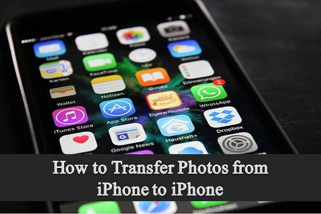 how to transfer photos from iphone to iphone