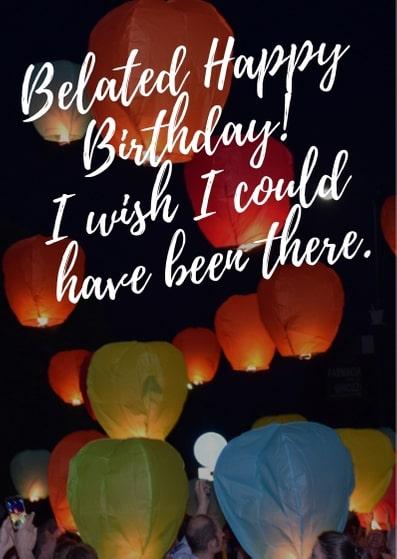 happy belated birthday images