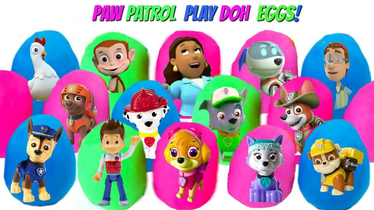 Best Learning Colors Video For Children With 15 Paw Patrol Play Doh Dough  Eggs With Toys! U2013 ViralVideos.gr U2013 ελληνικά Viral Videos, ελληνικά YouTube  Virals