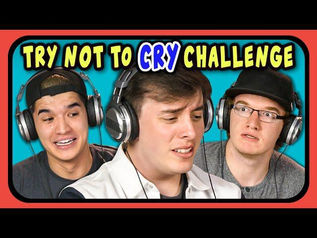 Youtubers react to try not to cry challenge viralvideos gr
