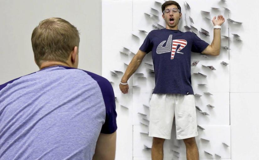 Card Throwing Trick Shots   Dude Perfect