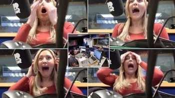 Radio Host Pranks Co-Host Pretending To Cuss On Air