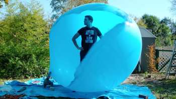 Popping A Giant Balloon While Standing Inside It