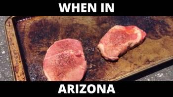 Cooking Steaks And Baking Cookies In Arizona Heat