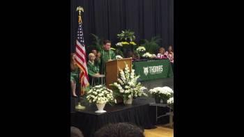 Junior High Kid Performs Hilarious Presidential Impressions During Graduation Speech