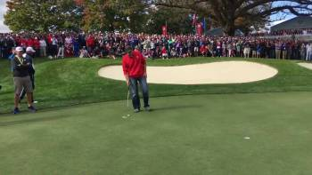 Heckling Fan Got To Play With The Golf Pros