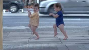 Dancing Baby Reflections Evian Commercial