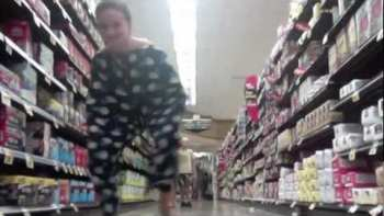 Girl Dances Around Public Wearing Only Huge Pair Of Pants