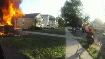 Detroit Firefighter Helmet Cam 2012 Compilation