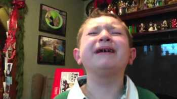 Boy Cries Tears Of Joy After Opening Christmas Present