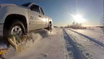 Track N Go – Continuous Tracks Add-On Turns Truck In Snowmobile