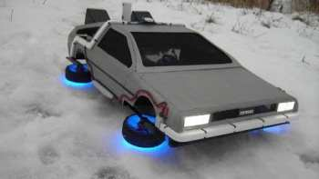 RC Flying Model DeLorean Time Machine From Back To The Future