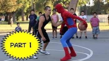 Spiderman Plays Pickup Basketball