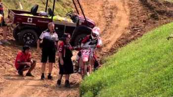 Dirt Bike Racer Flies From Bike Midair